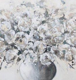 """Toile fleurs dans un vase 27"""" X 55"""""""