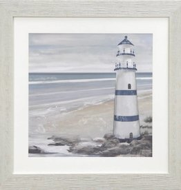 "Toile Phare B Observation Landmark 18"" x 18"""