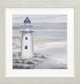 "Toile Phare A Shoreline Custodian 18"" x 18"""