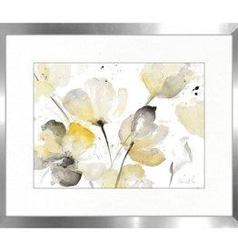 """Toile Neutral Floral A 16"""" x 20"""""""