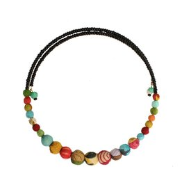 WorldFinds Kantha Bead Choker Necklace