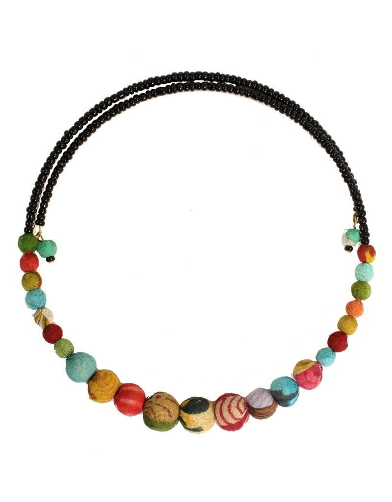 WorldFinds Kantha Bead Choker Necklace