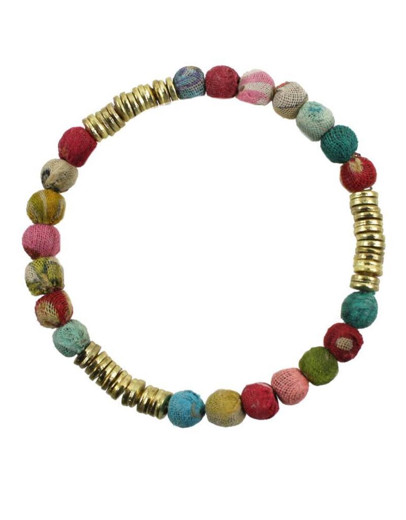 WorldFinds Kantha Paillette Bracelet