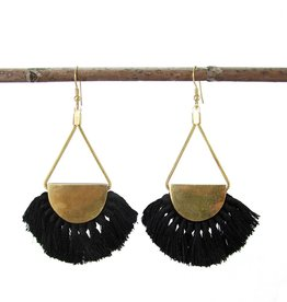 WorldFinds Fanned Fringe Earrings