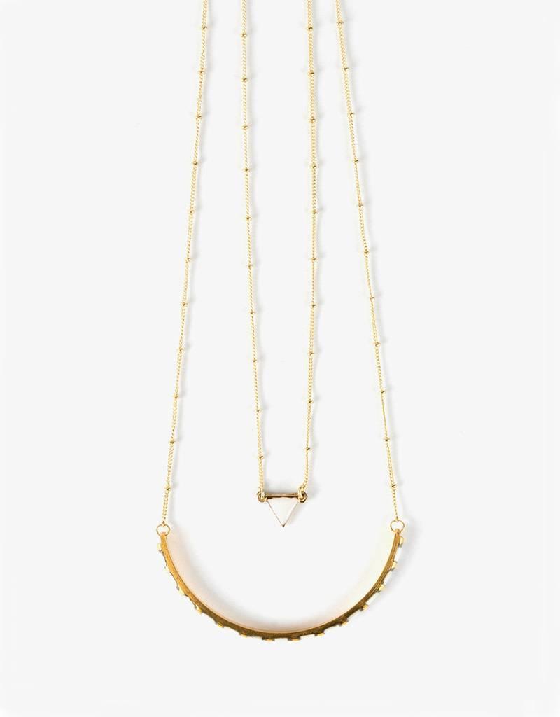Mata Traders Nadira White Necklace