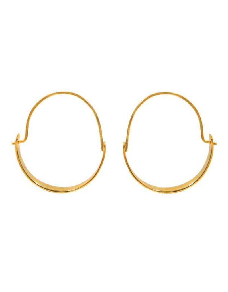 Purpose Jewelry Magnolia Brass Hoops