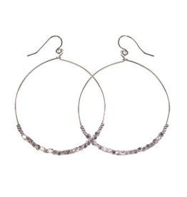 Purpose Jewelry Shimmer Hoop Earrings
