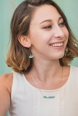 Starfish Project Keely Turquoise Bar Necklace