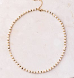 Starfish Project Tori Short Peach & Gold Necklace