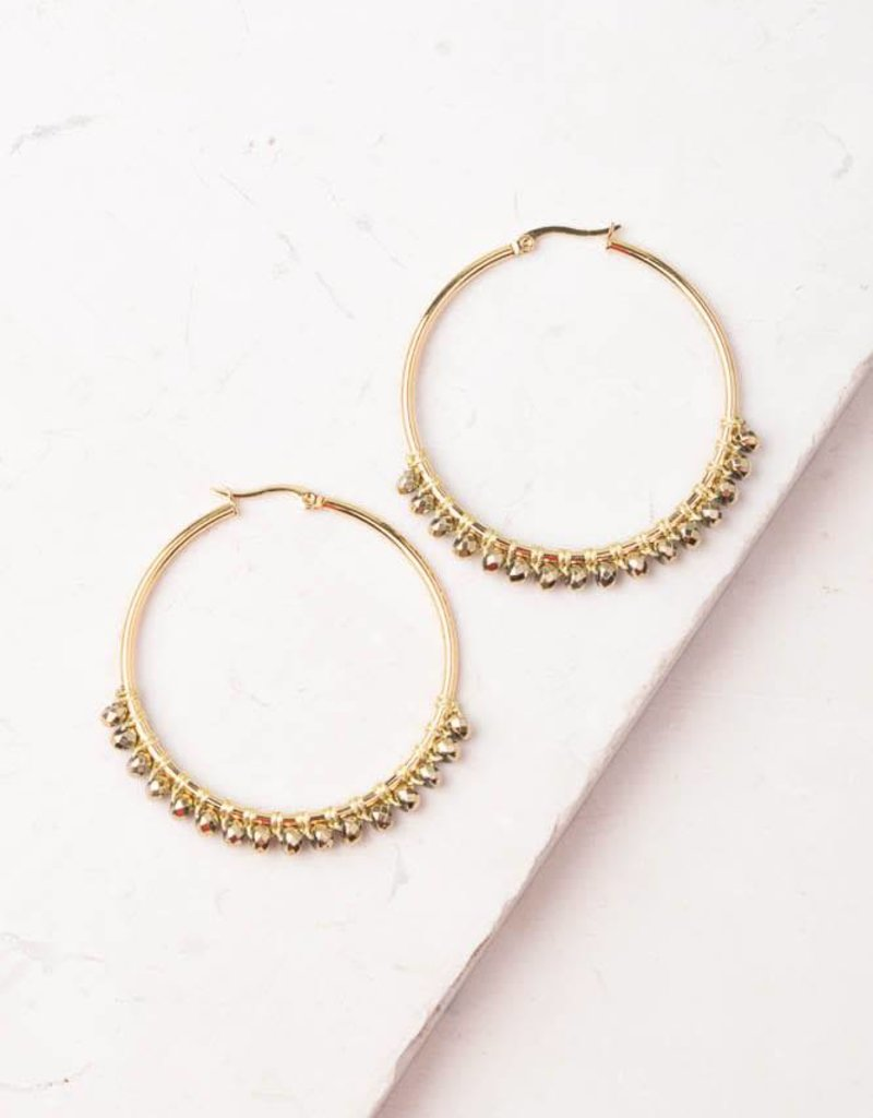 Starfish Project Bennett Gold Circle Earrings