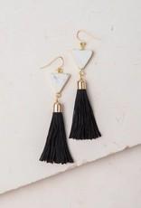 Starfish Project Scout Black & White Tassel Earrings