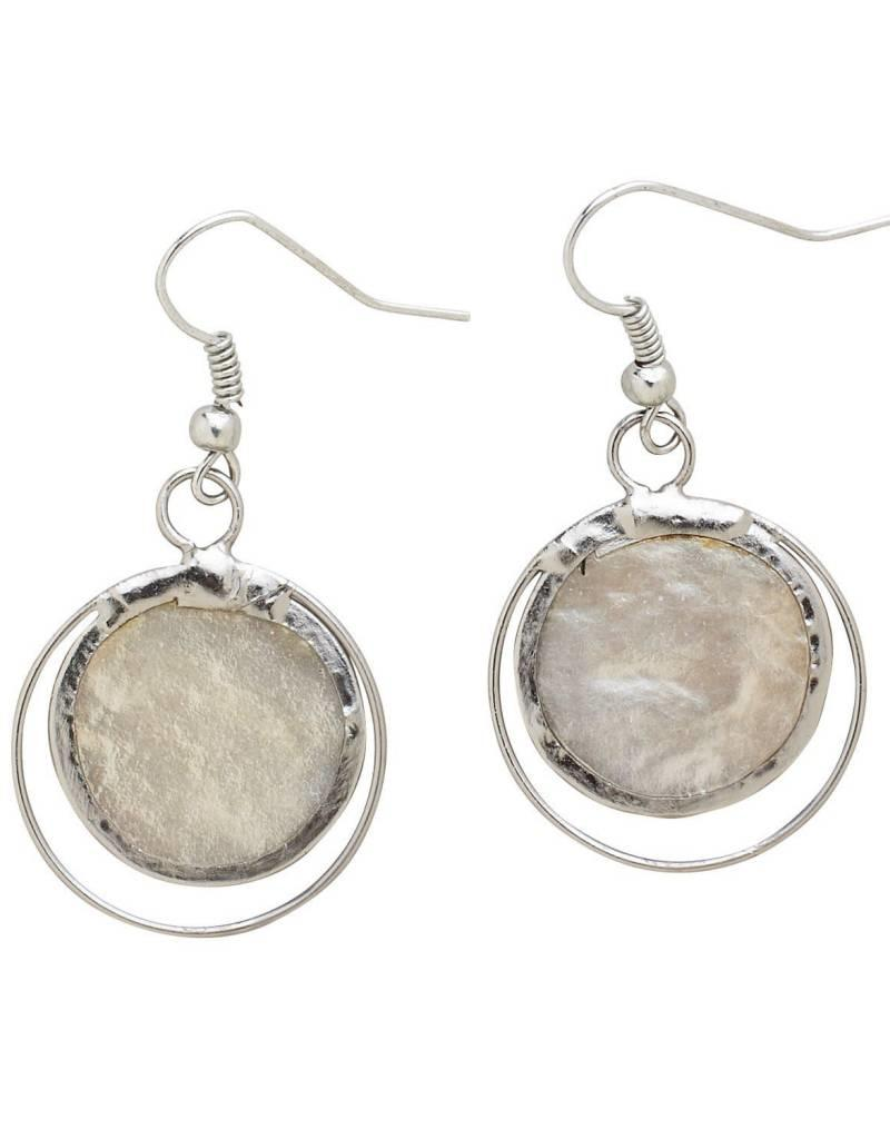 Saffy Handicrafts Pearly Cream Earrings