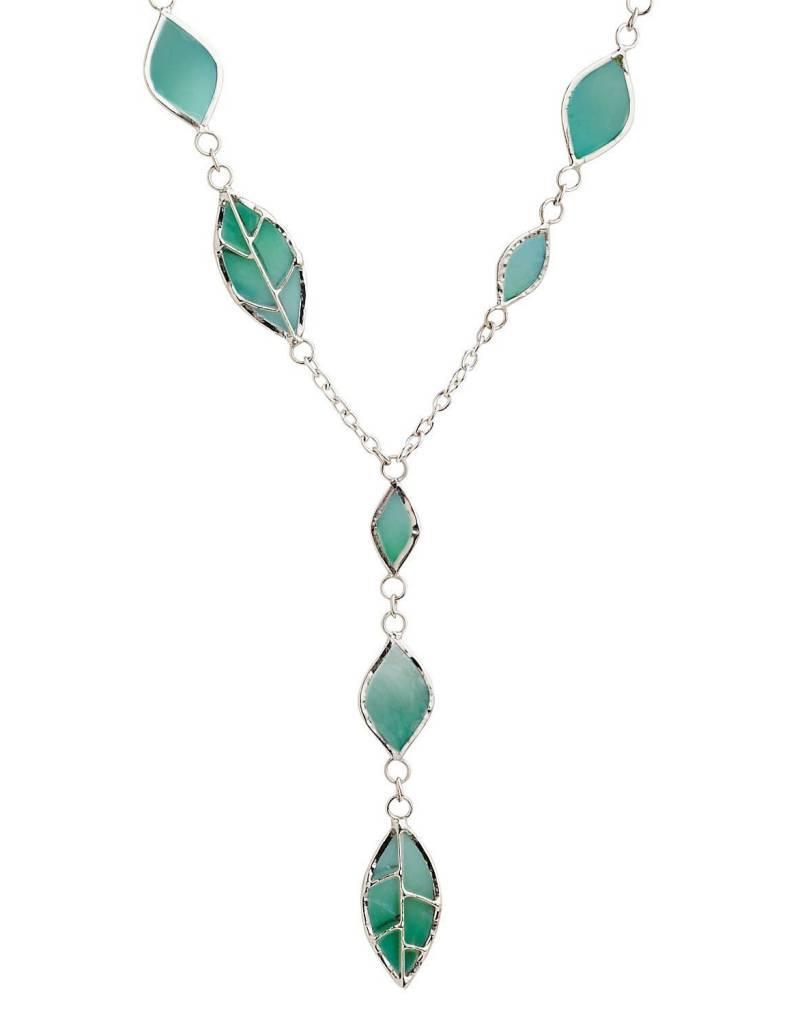 Saffy Handicrafts Spring Leaf Necklace