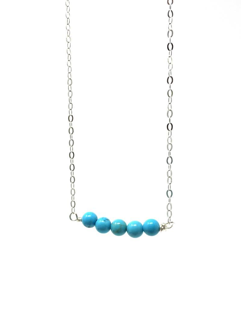 Forai Mingle Collection Turquoise Beaded Bar Necklace