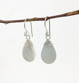 WorldFinds Teardrop Shell Earrings