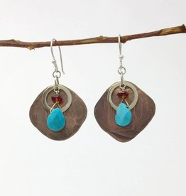 dZi Paisa Coin Earrings