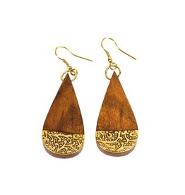 Matr Boomie Teardrop Earth and Fire Earrings