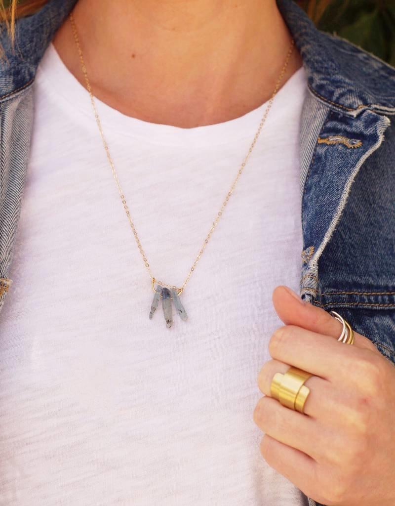 Forai Kaladan Key Necklace with Kyanite