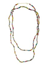 WorldFinds Kantha Bead Long Necklace