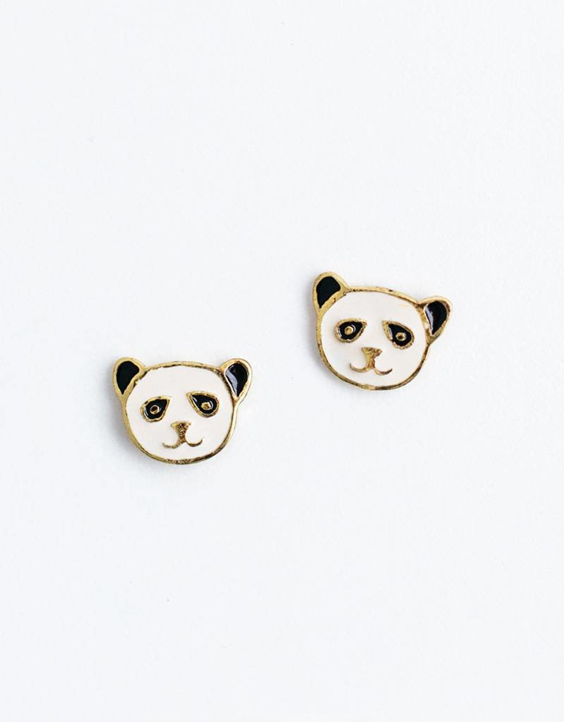 Mata Traders Panda Stud Earrings