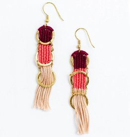 Mata Traders Santa Cruz Mauve Earrings