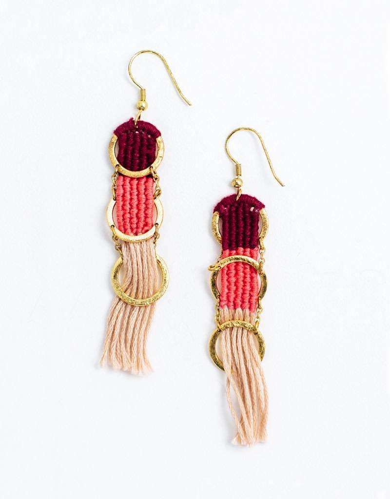 Mata Traders Santa Cruz Mauve Earrings