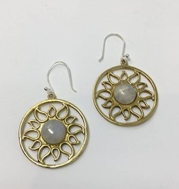 dZi Radiating Sun Earrings