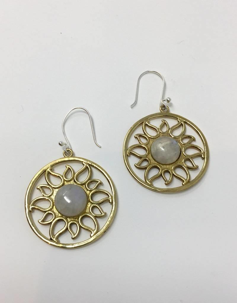 dZi Radiating Sun Earrings
