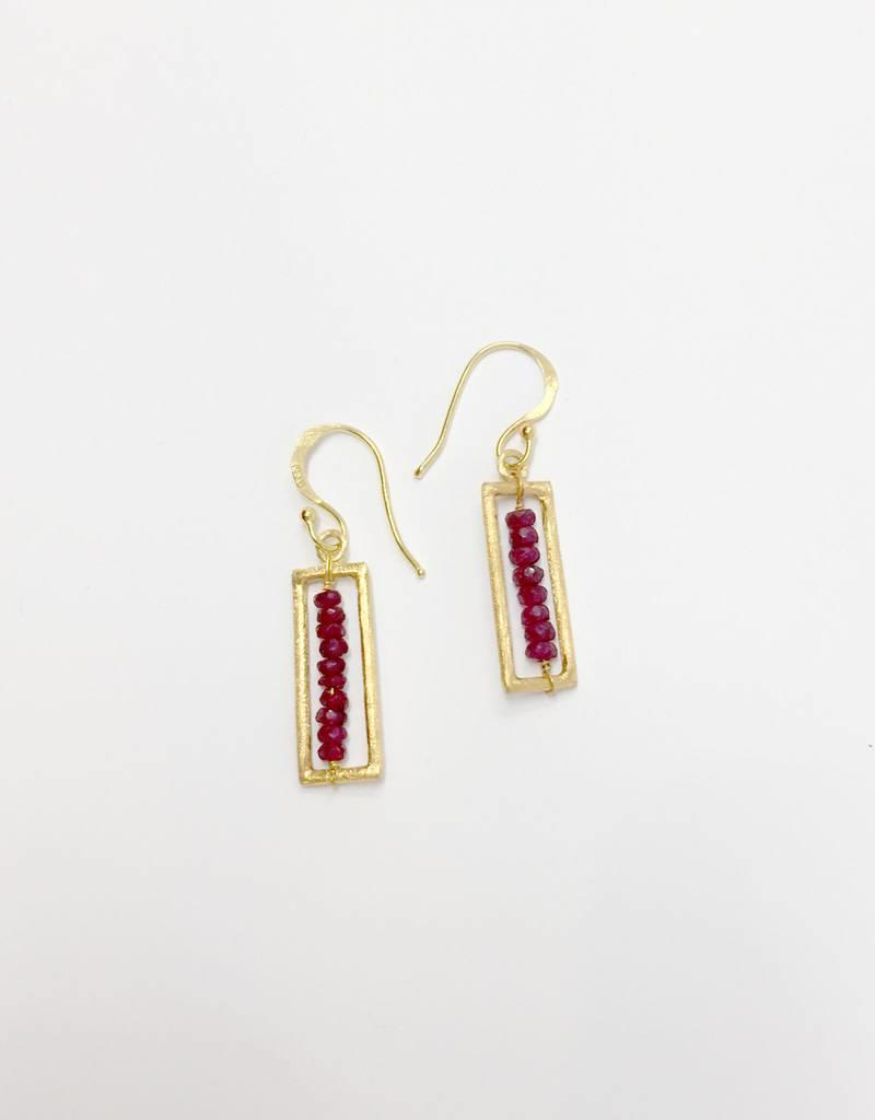 dZi Limitless Ruby Earrings