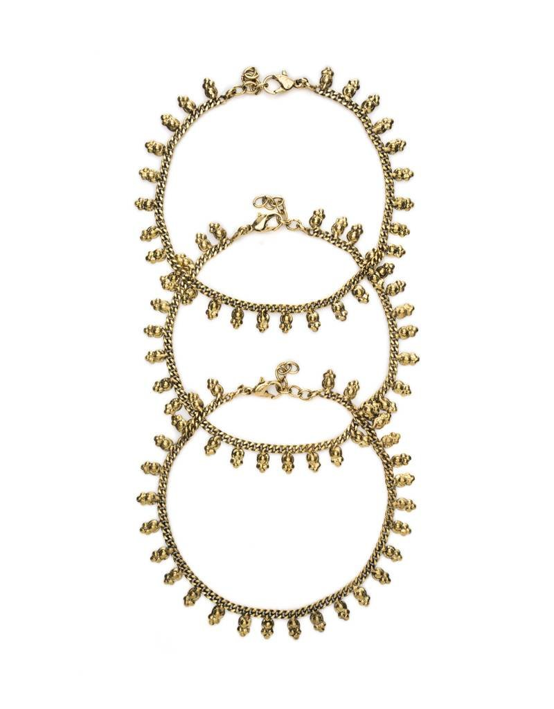 Matr Boomie Indian Charm Gold Anklet