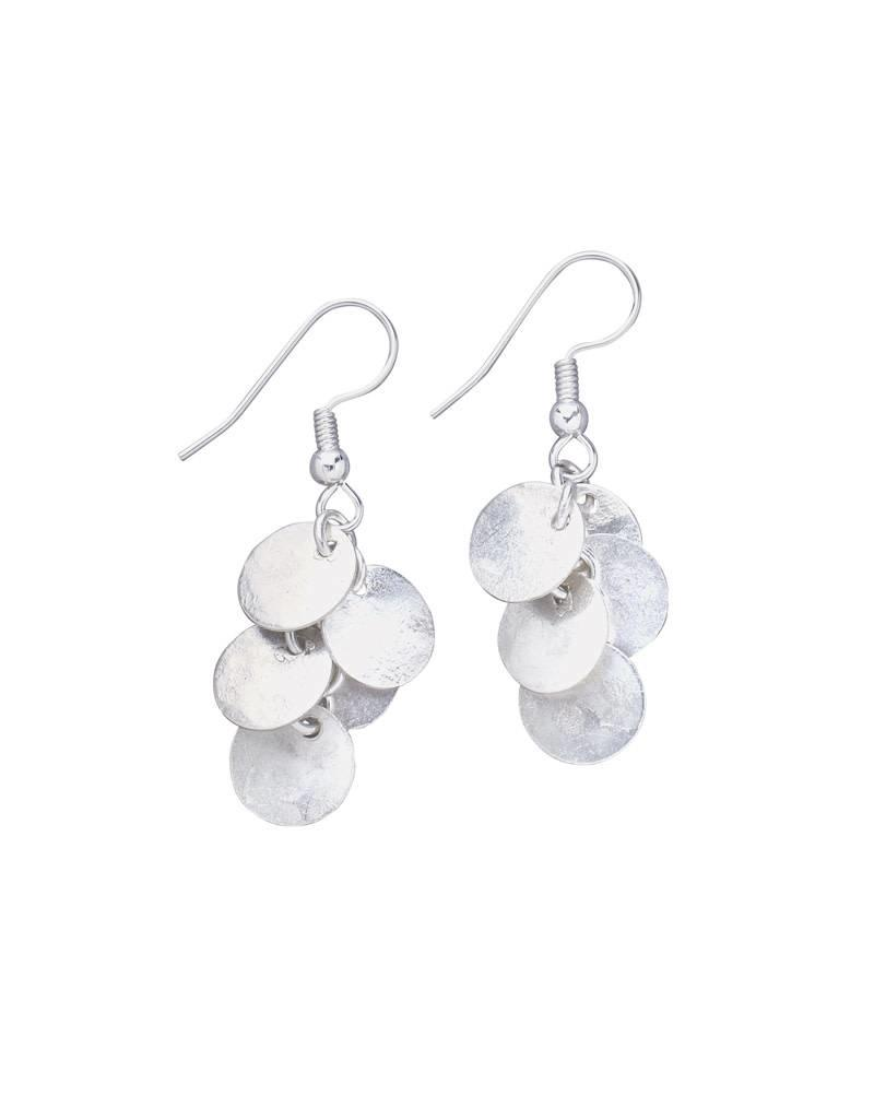 Bombolulu Silver Cluster Earrings