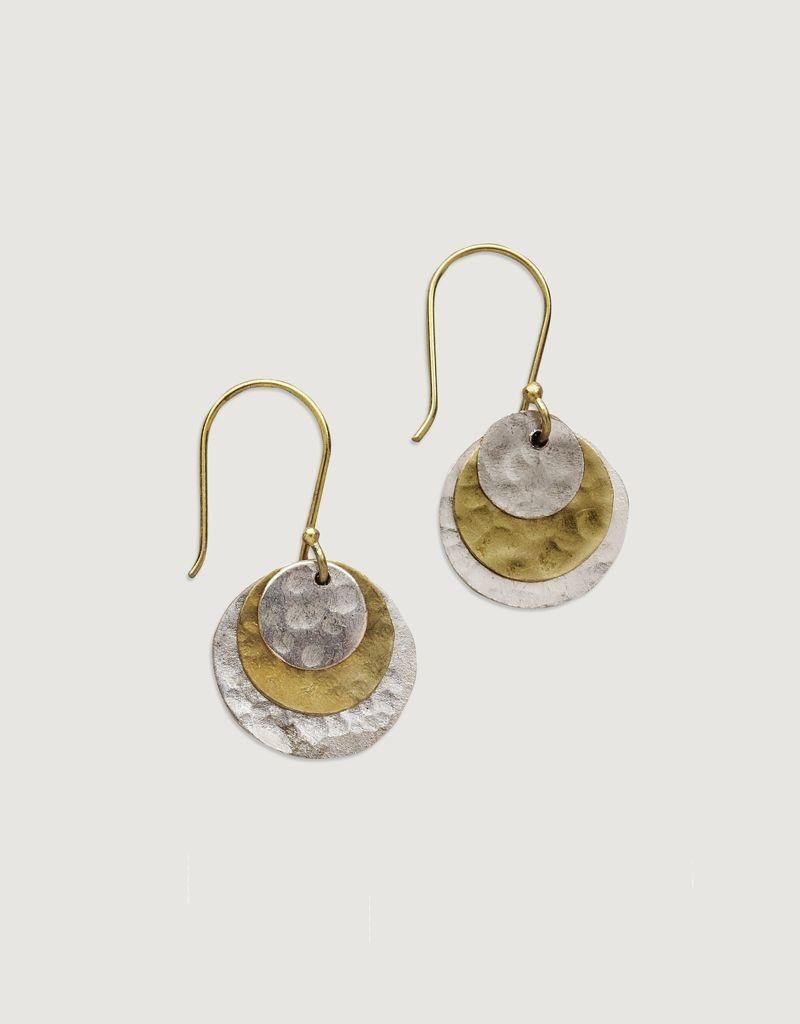 Bombolulu Layered Disk Earrings
