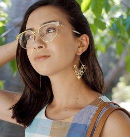 dZi Diamond Yantra Earrings