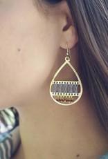 CFM Threaded Teardrop Earrings