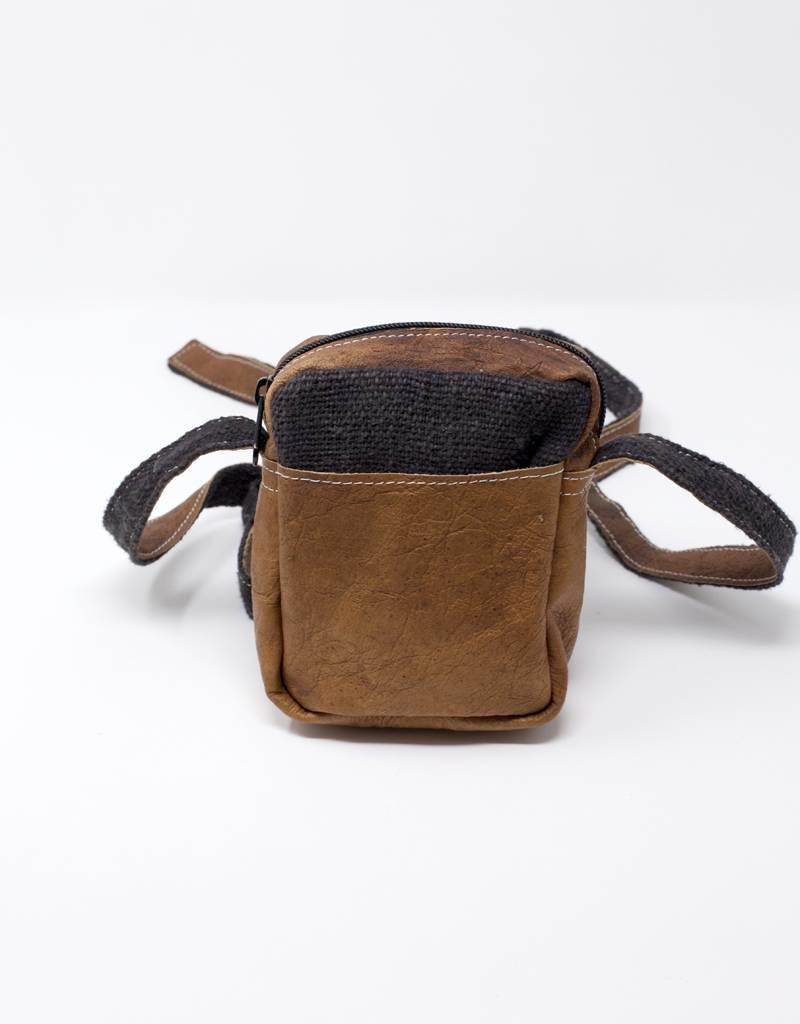 Ganesh Himal Hemp & Leather Camera Bag