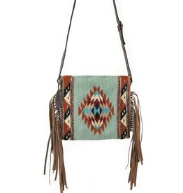 MZ Fair Trade Mints + Diamonds Crossbody Fringe Purse