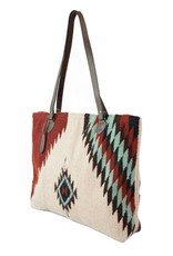 MZ Fair Trade Turquoise + Ruby Tote