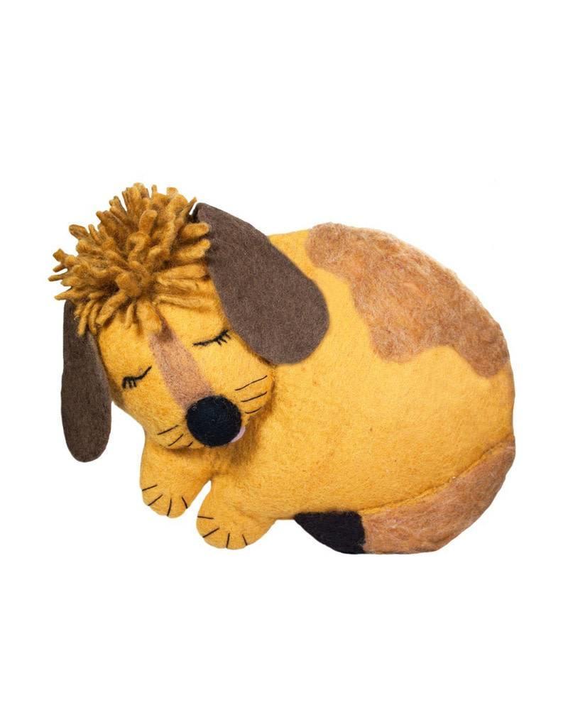dZi Puppy Felted Throw Pillow
