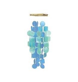 Zen-Zen Blue and Turquoise Medium Capiz Windchime