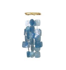Zen-Zen Blue Square Small Capiz Windchime