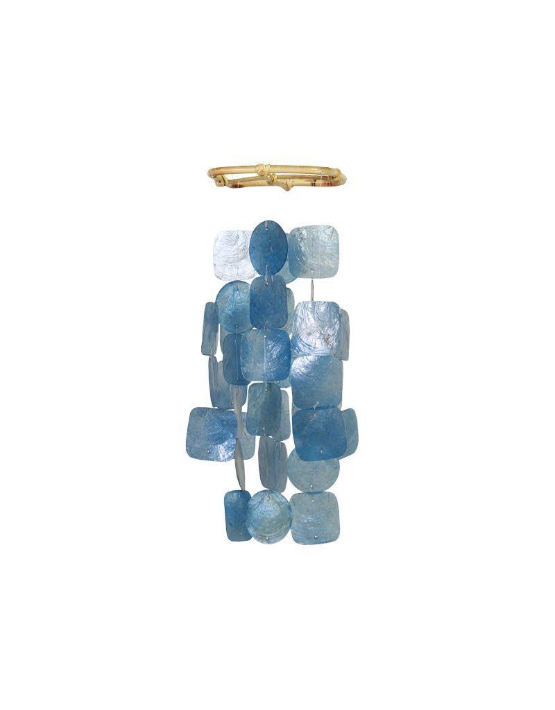 Zen-Zen Small Blue Capiz Windchime