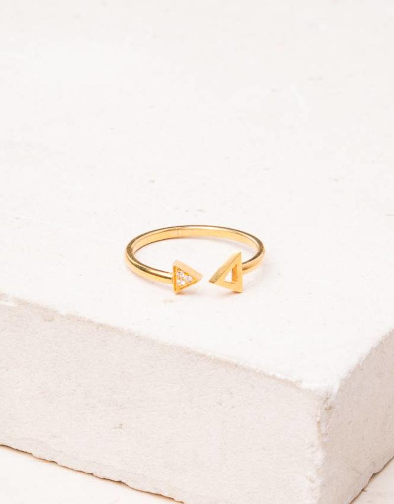 Starfish Project Reed Gold Triangle Ring