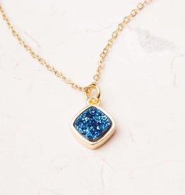 Starfish Project Jennifer Navy Druzy Pendant Necklace