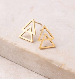 Starfish Project Cherise Gold Triangle Stud Earrings