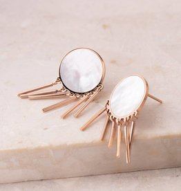 Starfish Project Beverly Shell & Rose Gold Earrings