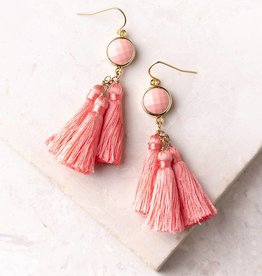 Starfish Project Lucia Pink Tassel Earrings