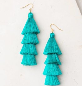 Starfish Project Mollie Teal Tassel Earrings