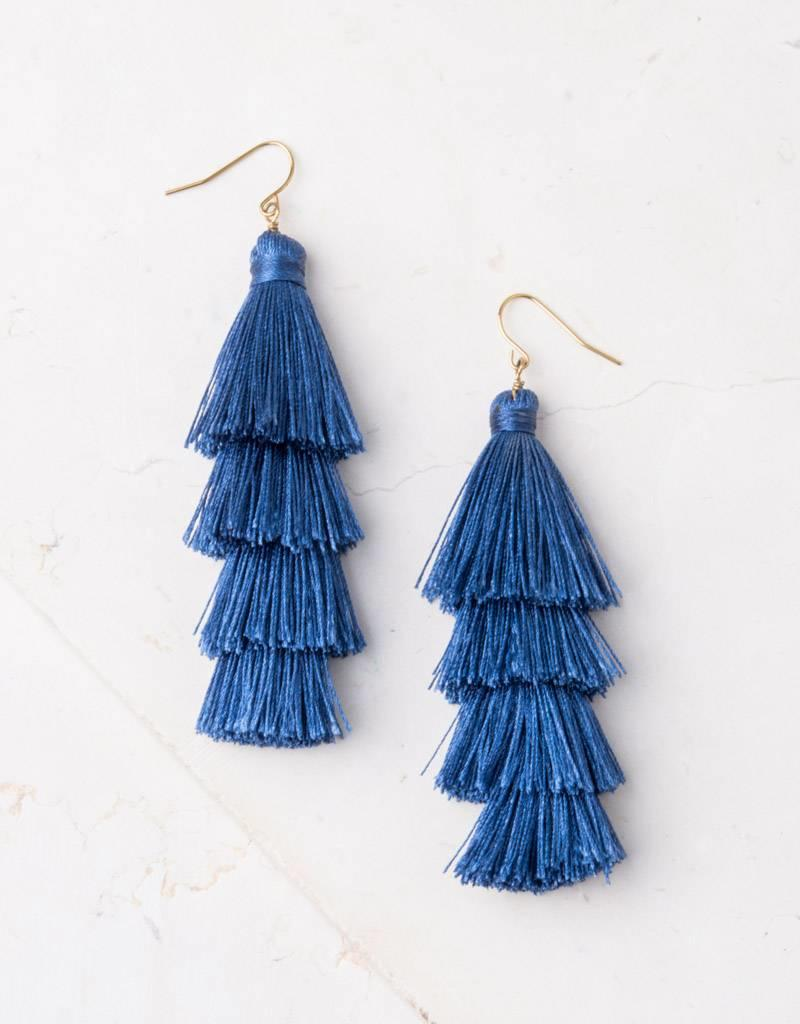 Starfish Project Mollie Navy Tassel Earrings