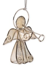 Saffy Handicrafts Herald Angel Capiz Ornament