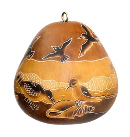 Lucuma Designs Coastal Birds Gourd Ornament